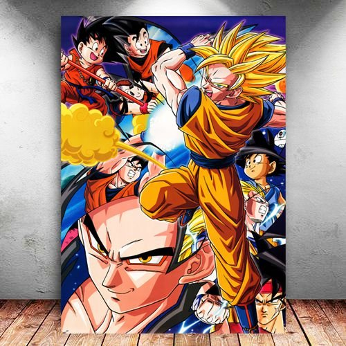 Placa Decorativa MDF Goku Super Saiyan - Dragon Ball Z - PMDF20