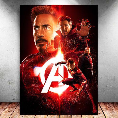 Placa Decorativa MDF Avengers Infinity War - Marvel - PMDF139
