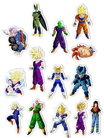 Ímãs Decorativos Dragon Ball Set E - Saga Cell - 14 unid