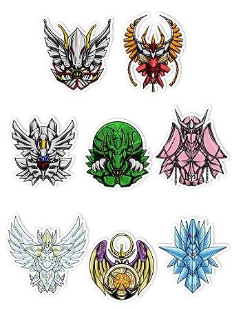 Ímãs Decorativos Cavaleiros do Zodíaco Set A - 8 unid