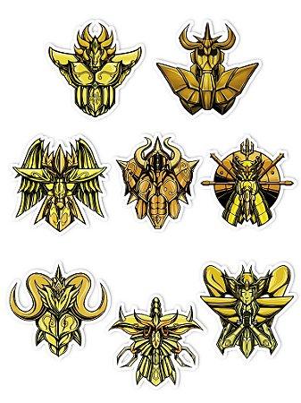 Ímãs Decorativos Cavaleiros do Zodíaco Set C - 8 unid