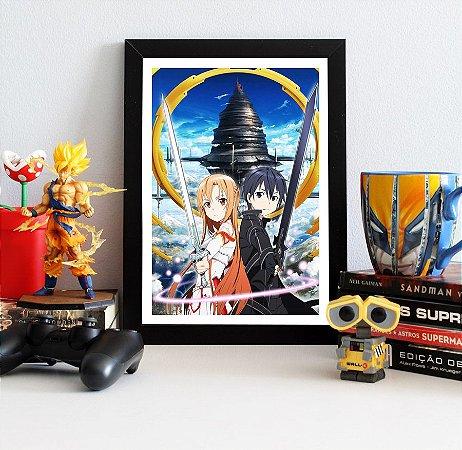 Quadro Decorativo Kirito e Asuna - Sword Art Online - QV176