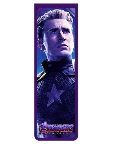 Marcador De Página Magnético Capitão América - Avengers - MMA105