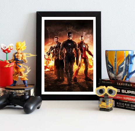 Quadro Decorativo Trinity - Avengers Endgame - QV416