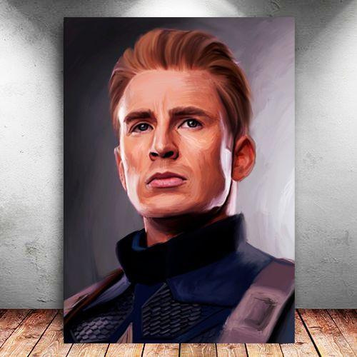 Placa Decorativa MDF Capitão América - Avengers Endgame - PMDF427