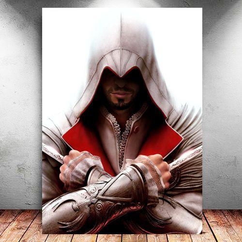 Placa Decorativa MDF Ezio - Assassin's Creed - PMDF332