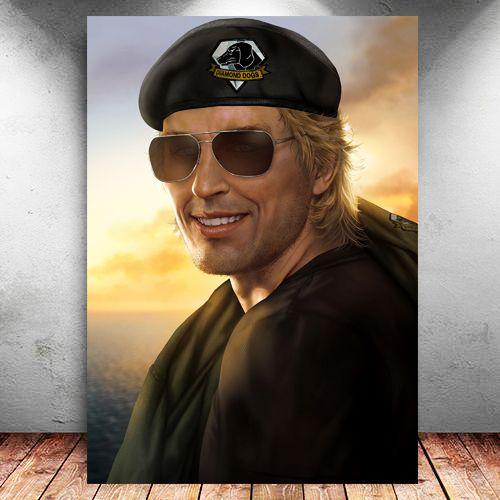 Placa Decorativa MDF Kaz - Metal Gear - PMDF362