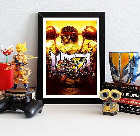 Quadro Decorativo Ryu - Street Fighter - QV368