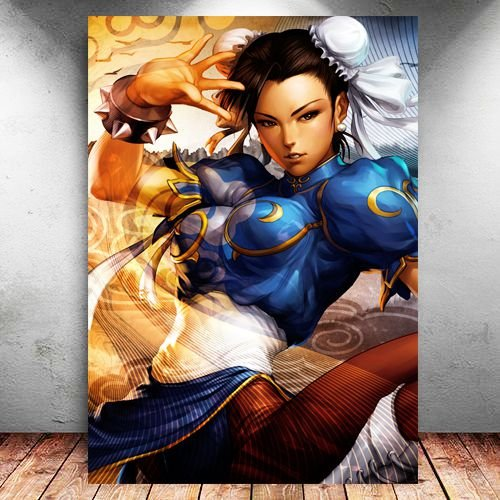 Placa Decorativa MDF Chun-Li - Street Fighter - PMDF380