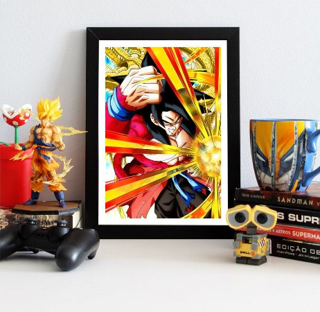 Quadro Decorativo Goku Xeno SSJ4 - Dragon Ball - QV112