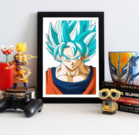 Quadro Decorativo Goku SSJ Blue - Dragon Ball - QV108