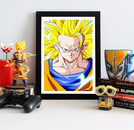 Quadro Decorativo Goku SSJ 3 - Dragon Ball - QV106
