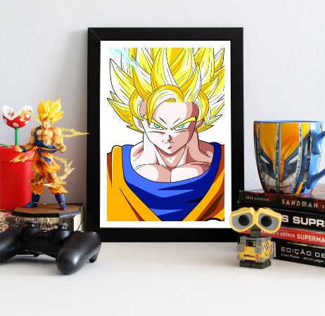 Quadro Decorativo Goku SSJ 2 - Dragon Ball - QV105