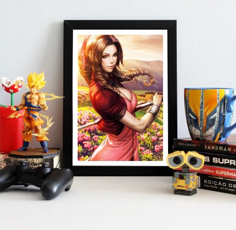 Quadro Decorativo Aerith - Final Fantasy - QV386