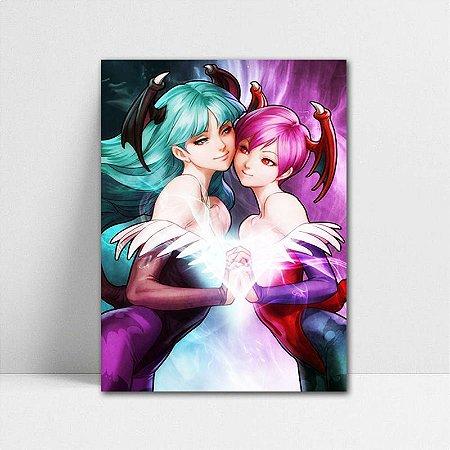 Poster A4 Morrigan e Lilith - Darkstalkers - PT391