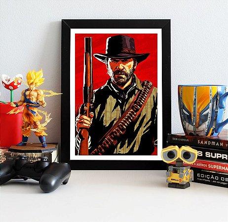 Quadro Decorativo John Marston - Red Dead Redemption - QV399