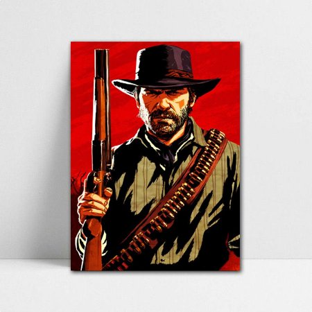 Poster A4 John Marston - Red Dead Redemption - PT399