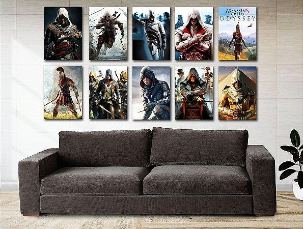 Kit 10 Placas Decorativas MDF Assassin's Creed - KMDF09