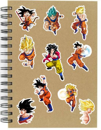 Adesivos Dragon Ball Set C - Goku - 10 unid