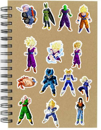 Adesivos Dragon Ball Set E - Saga Cell - 14 unid