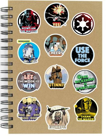 Adesivos Star Wars Set D - 12 unid