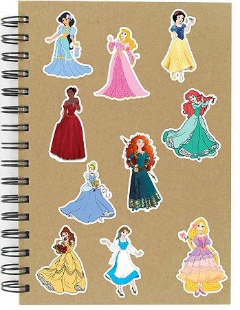 Adesivos Princesas Disney Set D - 10 unid