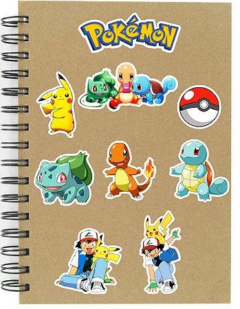 Adesivos Pokémon Set A - 9 unid