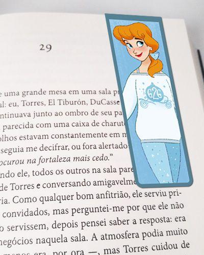 Marcador De Página Magnético Cinderela - Disney - MPD44