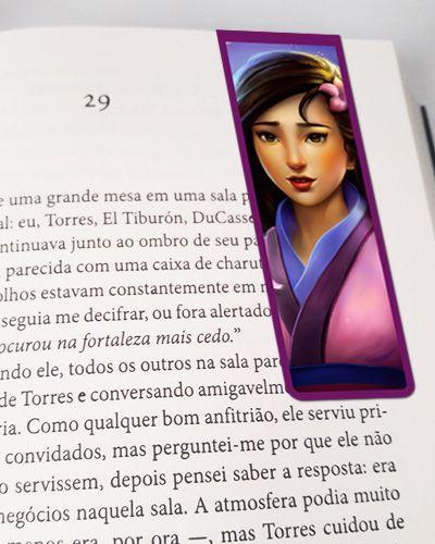 Marcador De Página Magnético Mulan - Disney - MPD119