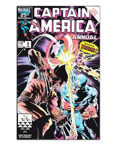 Ímã Decorativo Capa de Quadrinhos - Capitão América - CQM30