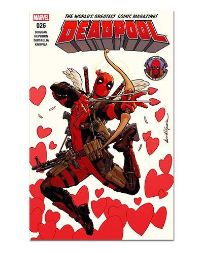 Ímã Decorativo Capa de Quadrinhos Deadpool - CQM32