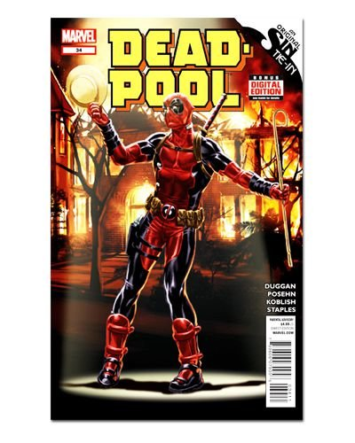 Ímã Decorativo Capa de Quadrinhos Deadpool - CQM36