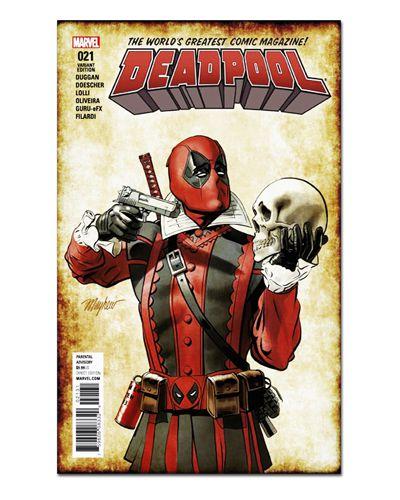 Ímã Decorativo Capa de Quadrinhos Deadpool - CQM37