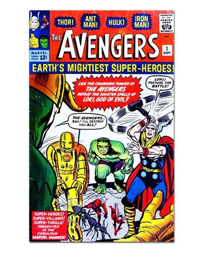 Ímã Decorativo Capa de Quadrinhos - Vingadores - CQM152