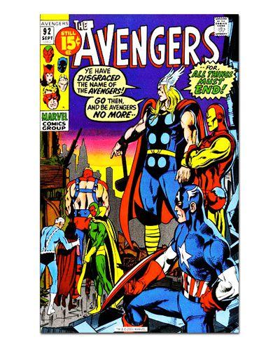 Ímã Decorativo Capa de Quadrinhos - Vingadores - CQM156