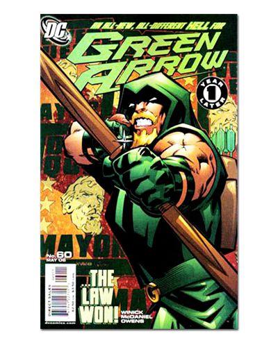 Ímã Decorativo Capa de Quadrinhos - Arqueiro Verde - CQD05