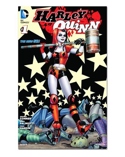Ímã Decorativo Capa de Quadrinhos - Harley Quinn - CQD43