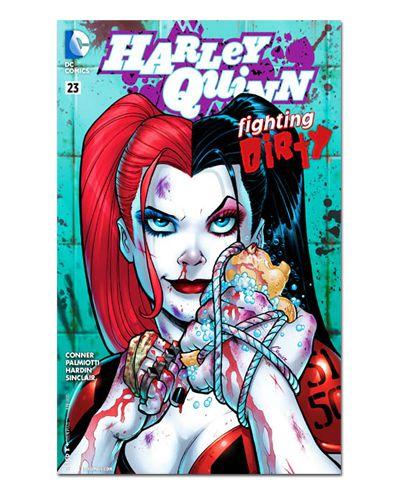 Ímã Decorativo Capa de Quadrinhos - Harley Quinn - CQD50