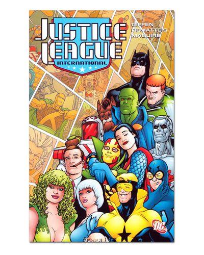 Ímã Decorativo Capa de Quadrinhos - Liga da Justiça Internacional - CQD84