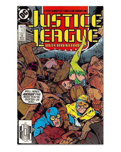 Ímã Decorativo Capa de Quadrinhos - Liga da Justiça Internacional - CQD85