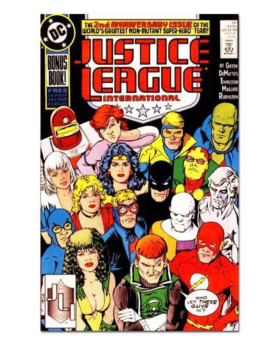 Ímã Decorativo Capa de Quadrinhos - Liga da Justiça Internacional - CQD86