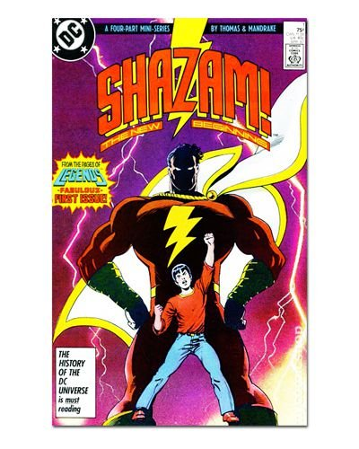 Ímã Decorativo Capa de Quadrinhos Shazam - CQD136