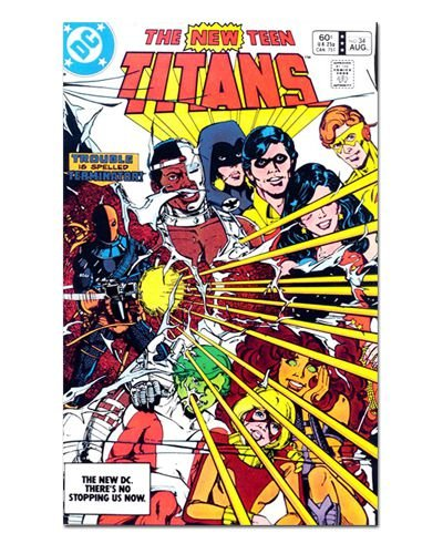 Ímã Decorativo Capa de Quadrinhos Teen Titans - CQD161