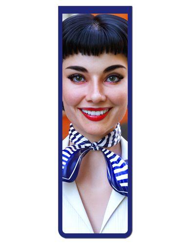 Marcador De Página Magnético Audrey Hepburn - MFI152