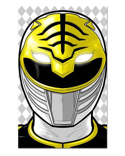Ímã Decorativo Ranger Branco - Power Rangers - ITOK01