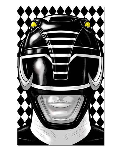 Ímã Decorativo Ranger Preto - Power Rangers - ITOK03