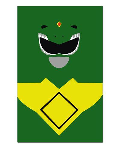 Ímã Decorativo Ranger Verde - Power Rangers - ITOK13
