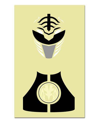 Ímã Decorativo Ranger Branco - Power Rangers - ITOK14