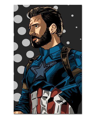 Ímã Decorativo Capitão América - Marvel Comics - IQM70