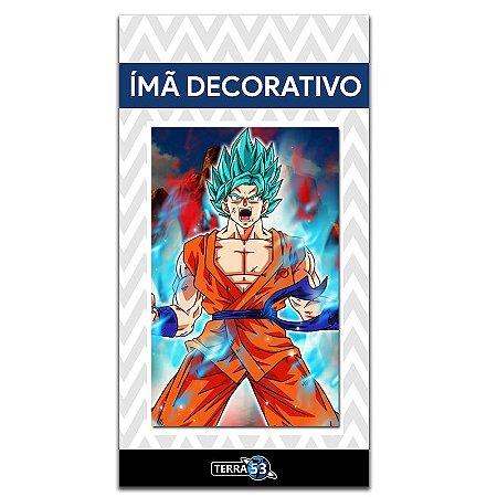 Ímã Decorativo Goku SSJ God Blue - Dragon Ball - IDBZ10